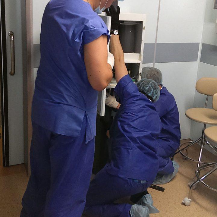 Монтаж пневмопочты Swisslog в перинатальном центре Алмазова