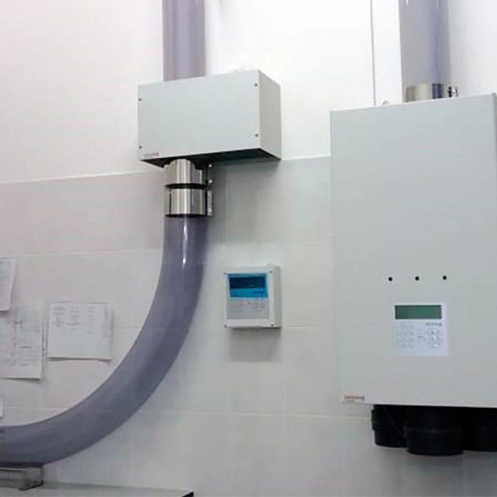 Станции пневмопочты Swisslog 160 мм в лаборатории 1 Мед им. Павлова