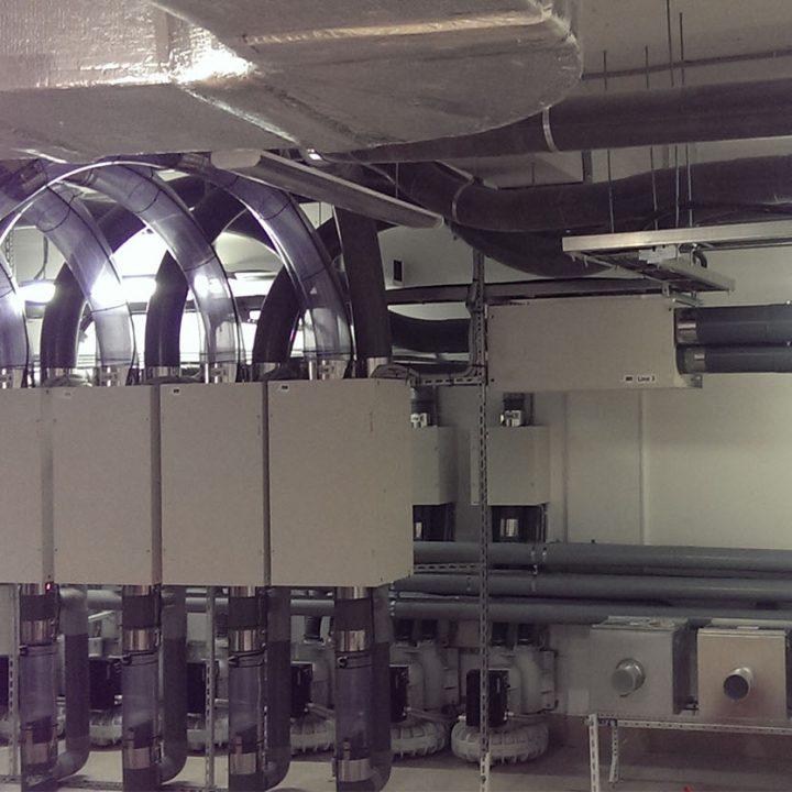 Воздуходувки и стрелки системы пневмопочты Swisslog 160 мм