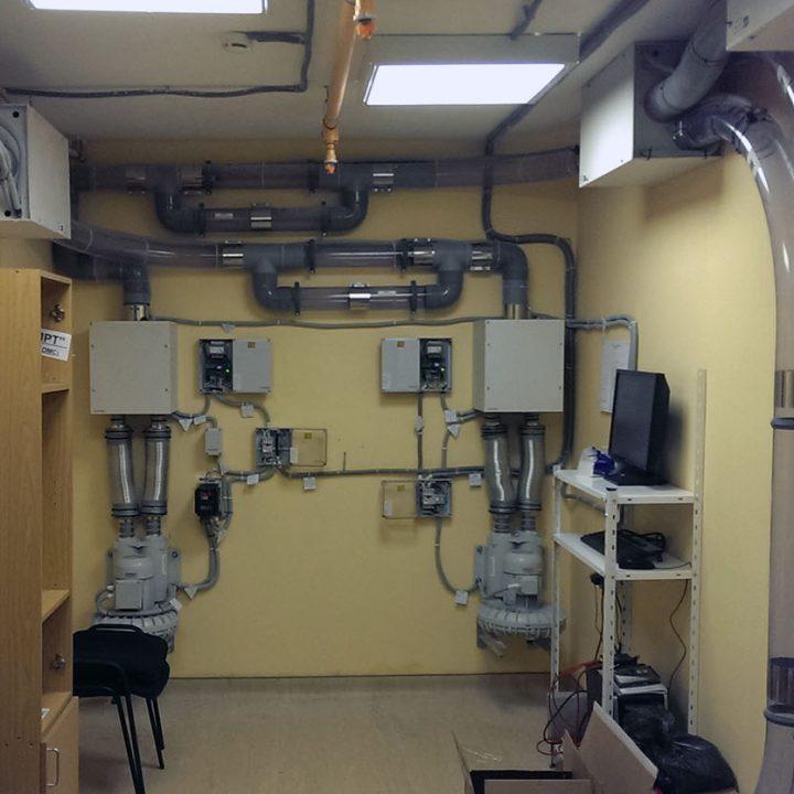 Воздуходувки пневмопочты Swisslog в клинике Скандинавия